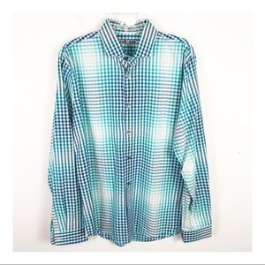 Express Fitted long Sleeve Button Up Shirt - L